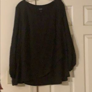 Beautiful layered black blouse size 1x